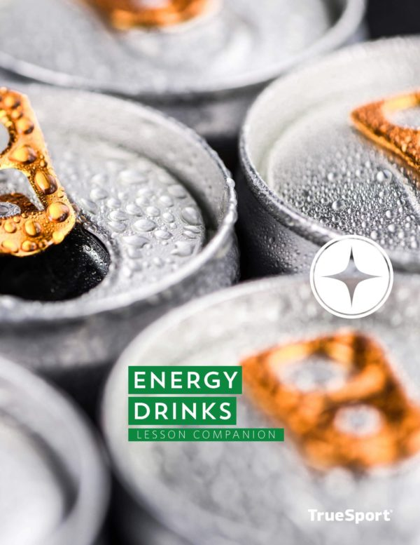 TrueSport energy drinks lesson companion cover image.