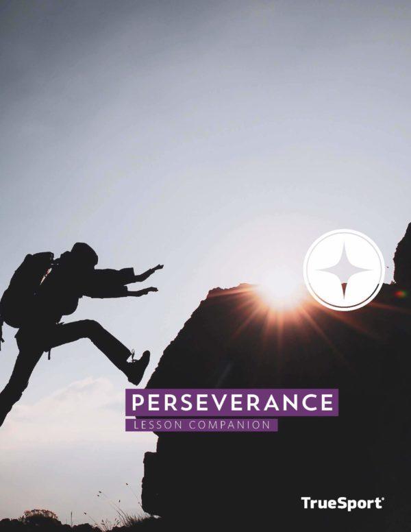 TrueSport perseverance lesson companion cover image.