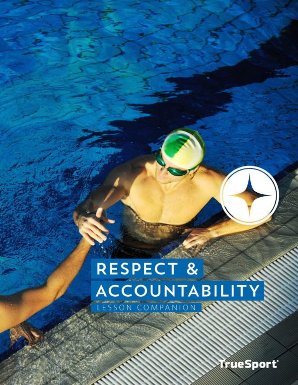 TrueSport respect and accountability lesson companion cover image.