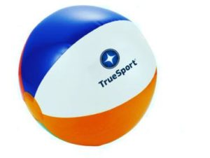 TrueSport branded beach ball.