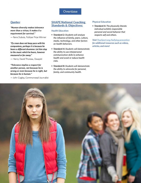 Bullying Prevention Lesson Standards