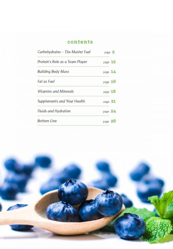 Nutrition Guide Table of Contents