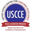 United States Center for Coaching Excellence accredited program seal.